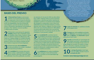 XVI Premio de Periodismo Solidario Memorial Joan Gomis