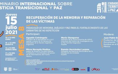 Mesa «Pedagogía de memoria, diálogo y paz para el fortalecimiento de las garantías de no repetición»